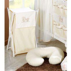 kosz na bieliznę wesołe zajączki ecru marki Mamo-tato