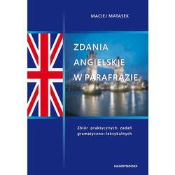 Zdania angielskie w parafrazie, książka z ISBN: 9788360238592