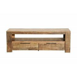 Invicta stolik rtv iron craft 130 cm - mango, drewno naturalne, metal marki Sofa.pl