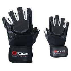 Rękawice kulturystyczne 8REPS DD-104W BeStrong męskie Biały (rozmiar L) z kategorii Rękawice do walki