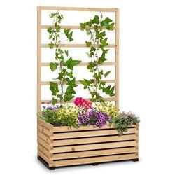 modu grow 100, zestaw: grządka podwyższona i pergola, 100 x 151 x 50 cm, drewno sosnowe, folia bąbelkowa marki Blumfeldt