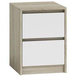 Szafka nocna siena 3x - biała + dąb sonoma marki Producent: elior