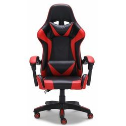 Fotel gamingowy, biurowy, obrotowy, remus, czerwony