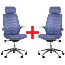 B2b partner Krzesło biurowe z siatkowym oparciem sitta grey, 1+1 gratis, niebieskie