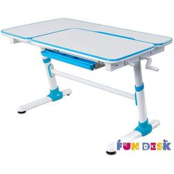Fundesk Invito blue - ergonomiczne, regulowane biurko dziecięce