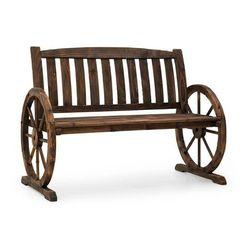 Murnau ławka ogrodowa opalane drewno jodłowe brązowa marki Blumfeldt