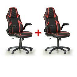 B2b partner Krzesło biurowe game, 1+1 gratis, czarny/czerwony