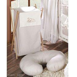 MAMO-TATO Kosz na bieliznę Śpiący miś w brązie - produkt z kategorii- Kosze na pranie