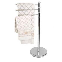 wieszak łazienkowy na ręczniki stojący chrom awd02060030 marki Awd interior