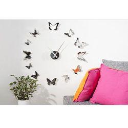 Zegar Butterfly, kolor szary
