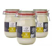 BIO Olej Kokosowy na zimno tłoczony 1000 ml - ZESTAW x 3