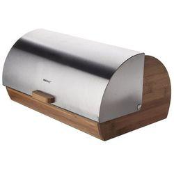 KINGHOFF Chlebak drewniany ze stalową pokrywą