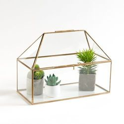 Mini szklarnia ze szkła i mosiądzu uyova od producenta La redoute interieurs
