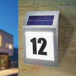 Podświetlany numer domu z zasilaniem solarnym 102031, 1, led wbudowany na stałe, 5500 k, ip34 marki Esotec