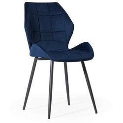 Krzesło tapicerowane z metalowymi nogami ▪️ hagen (dc-6300) ▪️ welur niebieski 64 marki Meblin
