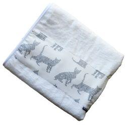 Bambusowy Ręcznik Kąpielowy, Kotki / Ecru, 70x140 cm, CAMPHORA STUDIO, CAM2521