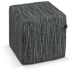 pufa kostka twarda, czarno-biały, 40x40x40 cm, comics marki Dekoria