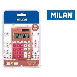 Kalkulator Milan kieszonkowy Copper na blistrze, róż