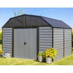Arrow Blaszany domek na narzędzia woodhaven 3,1 x 2,6 m szary