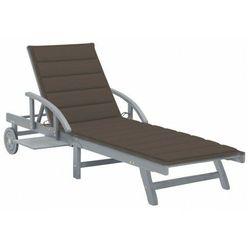 Elior Brązowy leżak ogrodowy - solar