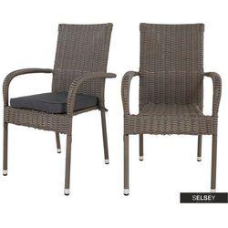 zestaw dwóch krzeseł ogrodowych alamosa marki Selsey