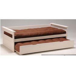 Vente-unique Kanapa z wysuwanym łóżkiem alfonso - 90 × 190 cm - świerk bielony