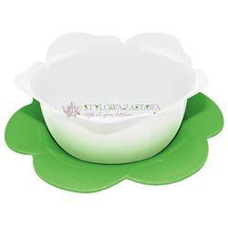 Zak! designs Durszlak z podstawką biało-zielony średni zak!