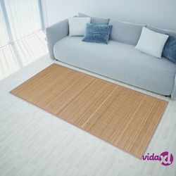 Vidaxl brązowy, prostokątny dywan bambusowy, 150 x 200 cm (8718475888093)