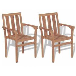 Zestaw drewnianych krzeseł ogrodowych - Jayden, vidaxl_43041