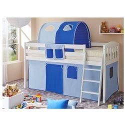 Ticaa kindermöbel Ticaa łóżko z drabinką eric v sosna biały, jasnoniebieski-ciemnoniebieski, kategoria: łóżeczka i kołyski
