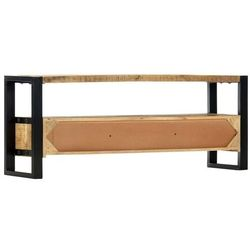 Vidaxl szafka pod tv, 130x30x50 cm, lite drewno mango