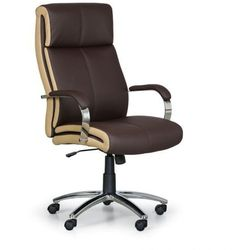 Fotel biurowy Half, brązowy/beżowy