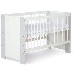 Klupś łóżeczko safari de lux biało-szary 120x60 (5901912240223)