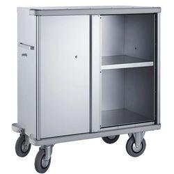 Unbekannt Aluminiowy wózek szafkowy, poj. 640 l, 1 półka dodatkowa. rama ekranująca dookoł