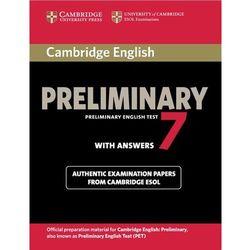 Cambridge English Preliminary (PET) 7 Podręcznik z Odpowiedziami, pozycja wydana w roku: 2012