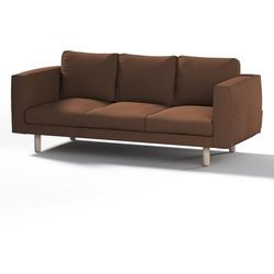 Dekoria Pokrowiec na sofę Norsborg 3-osobową, brązowy, sofa Norsborg 3-osobowa, Etna
