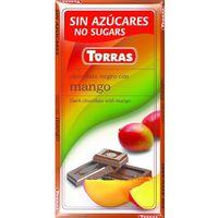 Torras Czekolada gorzka z mango, bez cukru, bezglutenowa - 75g ,  (8410342006301)