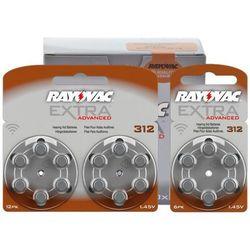 600 x baterie do aparatów słuchowych  extra advanced 312 mf, marki Rayovac
