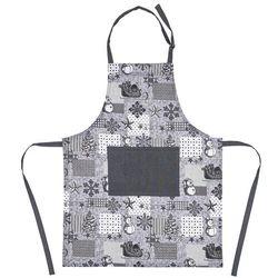 Świąteczny fartuch kuchenny Patchwork szary, 60 x 80 cm, 231091
