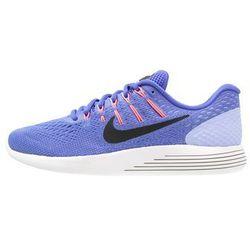 Nike Performance LUNARGLIDE 8 Obuwie do biegania Stabilność med blue/black/aluminum/hot punch/summit white (