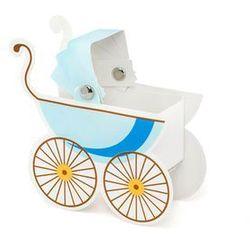 Party deco Pudełeczka dla gości wózeczek błękitny - 10 szt. (5901157432353)