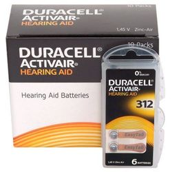 60 x baterie do aparatów słuchowych Duracell ActivAir 312 MF, kup u jednego z partnerów
