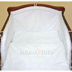 MAMO-TATO pościel 2-el Biała do łóżeczka 70x140cm z kategorii komplety pościeli dla dzieci
