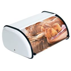 Delhan Mały chlebak stalowy odelo biały z nadrukiem stal nierdzewna od1304