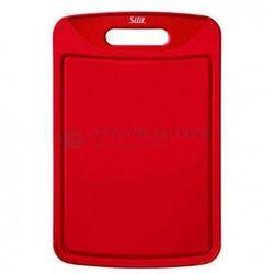 Deska do krojenia 38 x 25 cm czerwona + gratis nożyk marki Silit