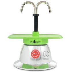 Kawiarka Top Moka Mini 2 filiżanki - srebrno zielona indukcja, towar z kategorii: Zaparzacze i kawiarki