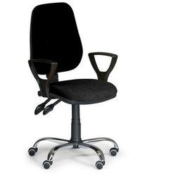 B2b partner Krzesło biurowe comfort z podłokietnikami - czarny