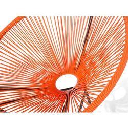 Beliani Meble rattanowe stół z 2 krzesłami pomarańczowe acapulco