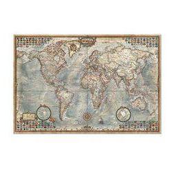 Puzzle 1500 Świat mapa stylizowana polityczna - Dostawa 0 zł