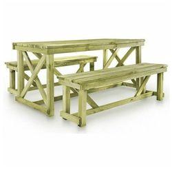 Zestaw drewnianych mebli ogrodowych - Beten, vidaxl_44897